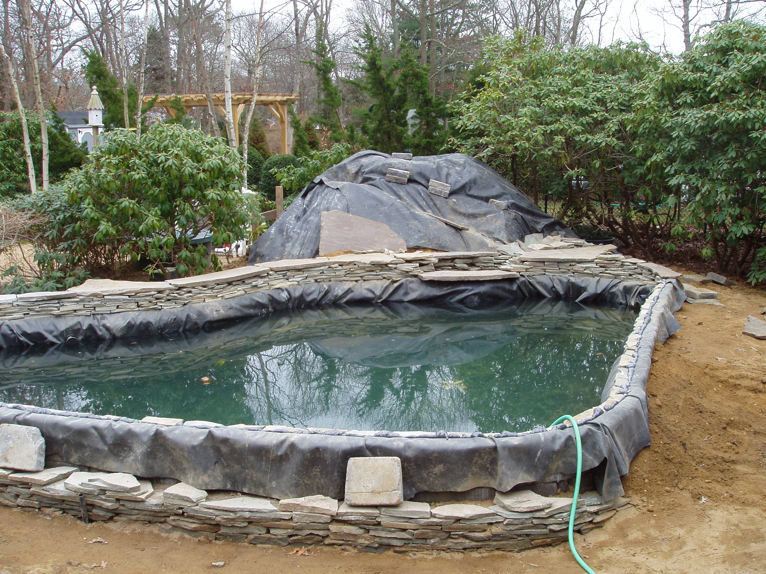 Pond construction for Koi pond installation cost